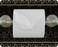I'm not sure there really is enough time in the day for toilet paper origami -- but, here's an interesting one!