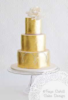 24 carat edible gold gives a glamorous touch. By Faye Cahill