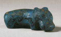 Egyptian Blue Faience Hippopotamus  --  12th Dynasty  --  1938-1759 BCE  --  Via Christie's