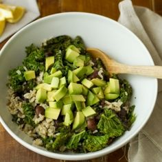 Vegan wild rice salad with beans, avocado and sesame oil dressing. Yum!