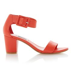 Buy Dune Fri Leather Block Heeled Sandals Online at johnlewis.com