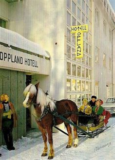 Lillehammer - Oppland Turisthotell. Postkort: Normann, 60-tallet.