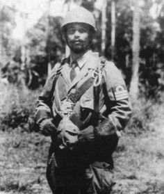 Commander of the japanese marines paratroopers colonel Toyoaki Horiuchi (dutch east indies, 1942)