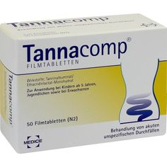 TANNACOMP Filmtabletten bei Durchfall:   Packungsinhalt: 50 St Filmtabletten PZN: 01900349 Hersteller: MEDICE Arzneimittel Pütter…