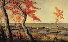 高橋由一「品川海晏寺紅葉図」1880年