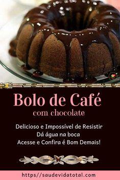 Bolo de Café com Chocolate - Source by defatimagomespa Chocolates, Café Chocolate, Cake Recipes, Dessert Recipes, Dutch Recipes, Christmas Desserts, Coco, Cupcake Cakes, Sweet Tooth