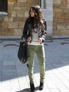 ccpetiterobenoire Outfit   Otoño 2012. Combinar Chaqueta-Cazadora Negra Zara, Pantalones Verde oliva Zara, Cómo vestirse y combinar según ccpetiterobenoire el 19-10-2012
