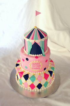 Vintage Circus Baby Shower Cake by The Cake Chic, via Flickr