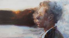 "Saatchi Art Artist Zhongwen Yu; Foggy Man Painting, ""I am a cloud in the sky"" #art"