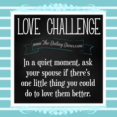 Always work with each other to strengthen your marriage!