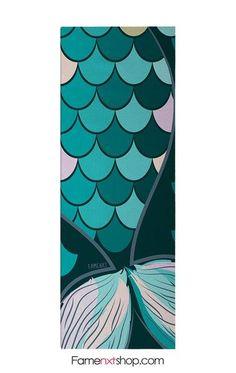 Mermaid tail yoga mat - famenxtshop.com