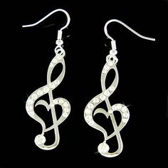 Looking for Swarovski Crystal Heart Treble Clef Music Note Pendant Earrings? Compare prices for Swarovski Crystal Heart Treble Clef Music Note Pendant Earrings, find the best offer in hundreds of online stores! Music Jewelry, Cute Jewelry, Pendant Earrings, Heart Earrings, Crystal Earrings, Stud Earrings, Best Friend Gifts, Gifts For Friends, Music Note Heart
