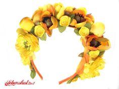 Blumenkranz Dirndl Haarschmuck *SUSA* Tracht Wiesn von Lebenslust2in1 auf DaWanda.com