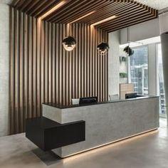 Reception Counter Design, Office Reception Design, Modern Reception Desk, Corporate Office Design, Dental Office Design, Modern Office Design, Modern Offices, Healthcare Design, Showroom Interior Design