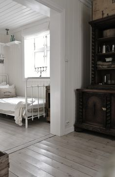 Vintage white. These floors are fabulous!