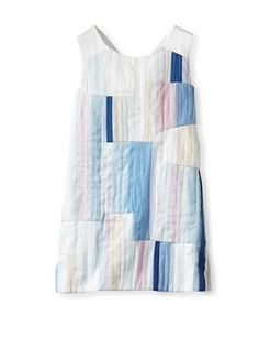 Chloé Girl's Graphic Dress (Blue)