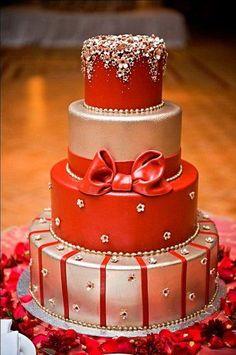 Le wedding cake «cadeau de Noël» !