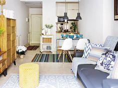 Casa-pequeña-salón-con-cocina