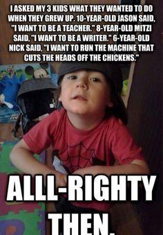 This kid is definitely goal oriented!