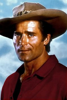 "Clint Walker of the TV Western Cheyenne.  ""Cheyenne, Cheyenne, where will you be sleeping tonight? Cheyenne. Cheyenne, Cheyenne may your heart stay free and wild, Cheyenne..."""