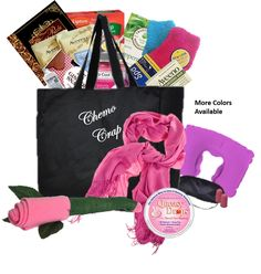 Just Dont Send Flowers Cancer gift baskets for women with cancer with comfort items for cooling. nausea and chemo comfort. The Big Queasy cancer tote bag for women in most cancer awareness colors. Chemo Care Package, Cancer Care Package, Gifts For Cancer Patients, Gift Baskets For Women, Lipton, Inspirational Gifts, Cancer Awareness, Gin, Care Packages