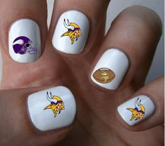 Minnesota+Vikings+NFL+Nail+Art+Decals+Nail+by+ILoveNailDecals,+$4.50