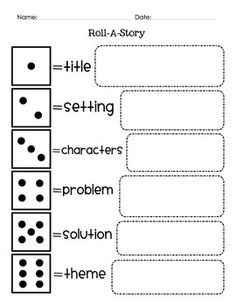 Reading group or intervention game! A fun idea would be to roll the die and begin a made-up story, each person that rolls tells the next part. 1. Roll all first. Write down your numbers. 2. Begin the story in numerical order. It does not matter how many p