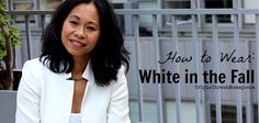 How to Wear White in the Fall | TripleThreatMommy.com #OOTD #howtowear