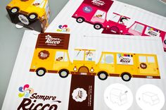Packaging (boxes) for Belgian candy store by Luis Vanegas, via Behance