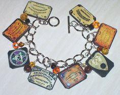 Ouija Board Charm Bracelet Altered Art Handmade | eBay