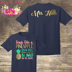 Preschool Teacher Shirts, Teaching Shirts, Teaching Schools, Teaching Outfits, Kindergarten Shirts, Teaching Ideas, Monogram Shirts, Vinyl Shirts, Team Shirts