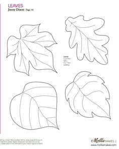 leaf template leaf templates thanksgiving fall pinterest