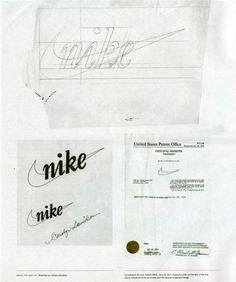 Original Nike logo swoosh sketch by Carolyn Davidson #plan #branding