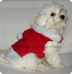 santa claus dog clothes patterns