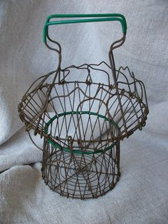 A little vintage French wire basket for collecting...snails!