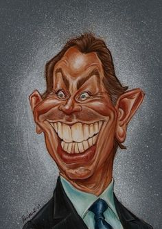 Studio Caricature of Tony Blair