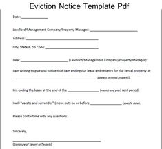 Florida Eviction Notice Form - Florida Eviction Notice Sample ...
