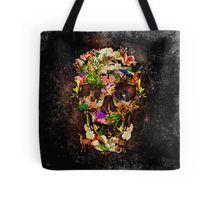 Animal Kingdom Sugar skull Tote Bags #ToteBags #bags #fashion #deer #wolf #snake #skull #skeleton #dayofthedead #diasdemuertos #jackskellingtons #halloween #scary #thenightbeforechristmas #animal #bone #tattoo #hippie #hipster #aztec #maya #indian #feather #bird #butterfly #mexico #mexican #hauntedmansion #ghost #monster #sugarskull