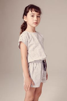 Simple stripes beautifully made at Egg by Susan Lazar for kidswear spring 2016