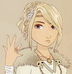 """Astrid #Hiccstrid ^.^ <3 << I Just love that she's like: """"Look at my ring you idiots"""""""