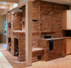The Masonry Heater Association- brick contraflow heater and cookstove by marcus flynn