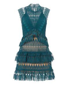 Self-Portrait  Teardrop Lace Mini Dress