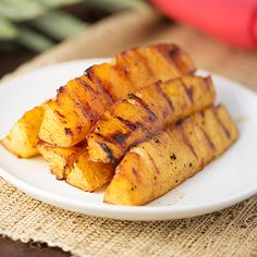 Grilled Pineapple - so delicious.  Think of fruit as the new dessert.  Natural fruit sugars to satisfy the sweet tooth and better for you than cookies and cake ; )