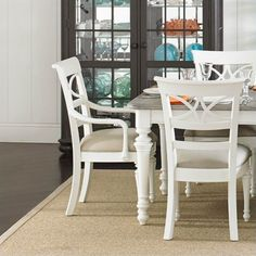 Coastal Living Retreat-Sea Watch Side Chair in Saltbox White - 411-21-60