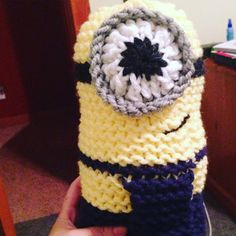 Loom knitted minion toy by missmichvee90