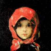 "This little girl (""Kleines Mädchen"" -The little girl in the red kerchief) is from the nineteenth century. She lives in this painting by Nicolae Grigorescu Paintings I Love, Art History, Painting & Drawing, Amazing Art, Art Photography, Art Gallery, Illustration Art, Fine Art, Drawings"
