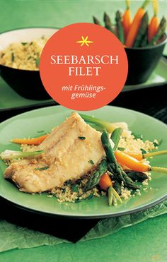 Gedämpftes Seebarschfilet mit Frühlingsgemüse Risotto, Low Carb, Beef, Ethnic Recipes, Fit, Fresh, Food And Drinks, Food Food, Meat