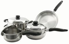 Classic Stainless Cookware Set 7 Piece Cookware -- To view further for this item, visit the affiliate link Amazon.com.