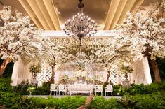 Magnificent! What a great wedding stage for your special day.