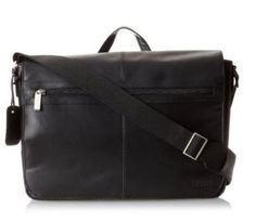 NWT $300 Authentic Kenneth Cole Reaction Luggage Top Grain Leather Messenger Bag. On sale for only $90!